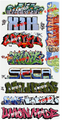 Blair Line N Scale Graffiti Decals Mega Set #11
