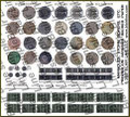 Blair Line N Scale Manhole covers and storm drains Self Adhesive  #062