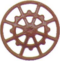 Kadee HO Scale Ajax Brake Wheels 8 pack Red Oxide #2030
