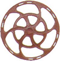 Kadee HO Scale Equipco Brake Wheels 8 pack Red Oxide #2031