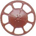 Kadee HO Scale Modern Brake Wheels 8 pack Red Oxide #2035
