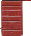 Kadee HO Scale 6 ft Door 7 Panel Superior High Tackboard Red Oxide #2210