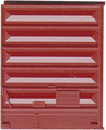 Kadee HO Scale 8 ft Door Pullman Standard Low Tackboard Red Oxide #2225