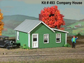 AMB LaserKits O Scale Company House Kit #493
