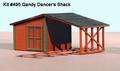 American Model Builders LaserKits O Scale Gandy Dancer's Shack Kit #495