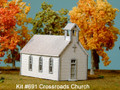 AMB LaserKits N Scale Crossroads Church Kit #691