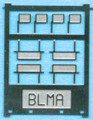 Cyber BLMA N Scale Locomotive Rear View Mirrors Four Pairs- Two Styles Kit #65