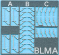 Cyber BLMA N Scale Locomotive Windshield Wipers Three Styles per pack  Kit #96