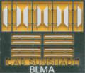 BLMA N Scale Locomotive Angled Cab Sunshades  Kit #74