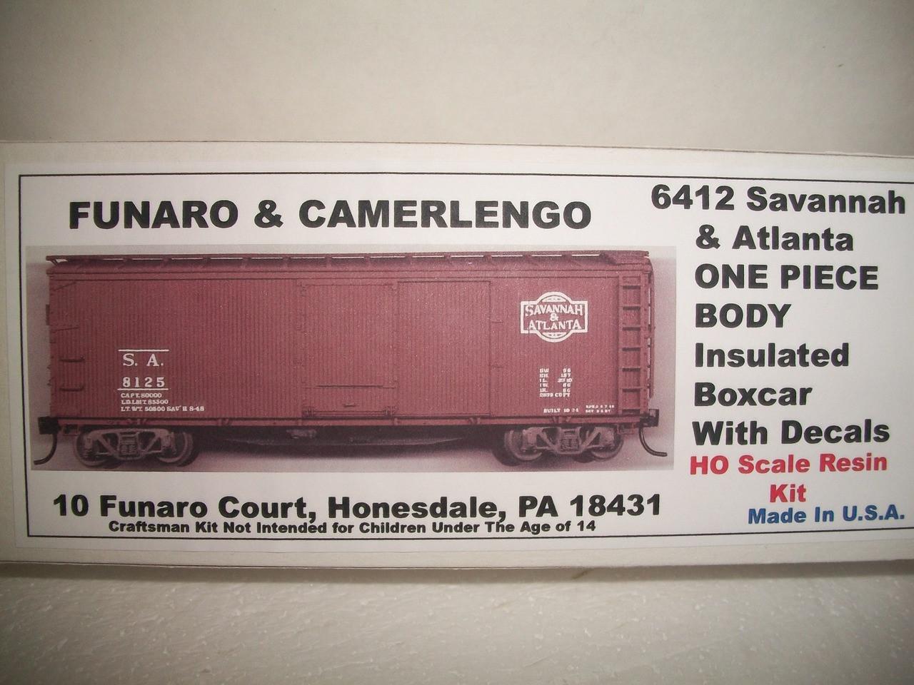 Funaro HO Scale Kit #6421 Savannah & Atlanta Insulated Box