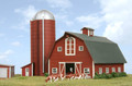 AMB LaserKits N Scale Country Barn with Silo Kit #630