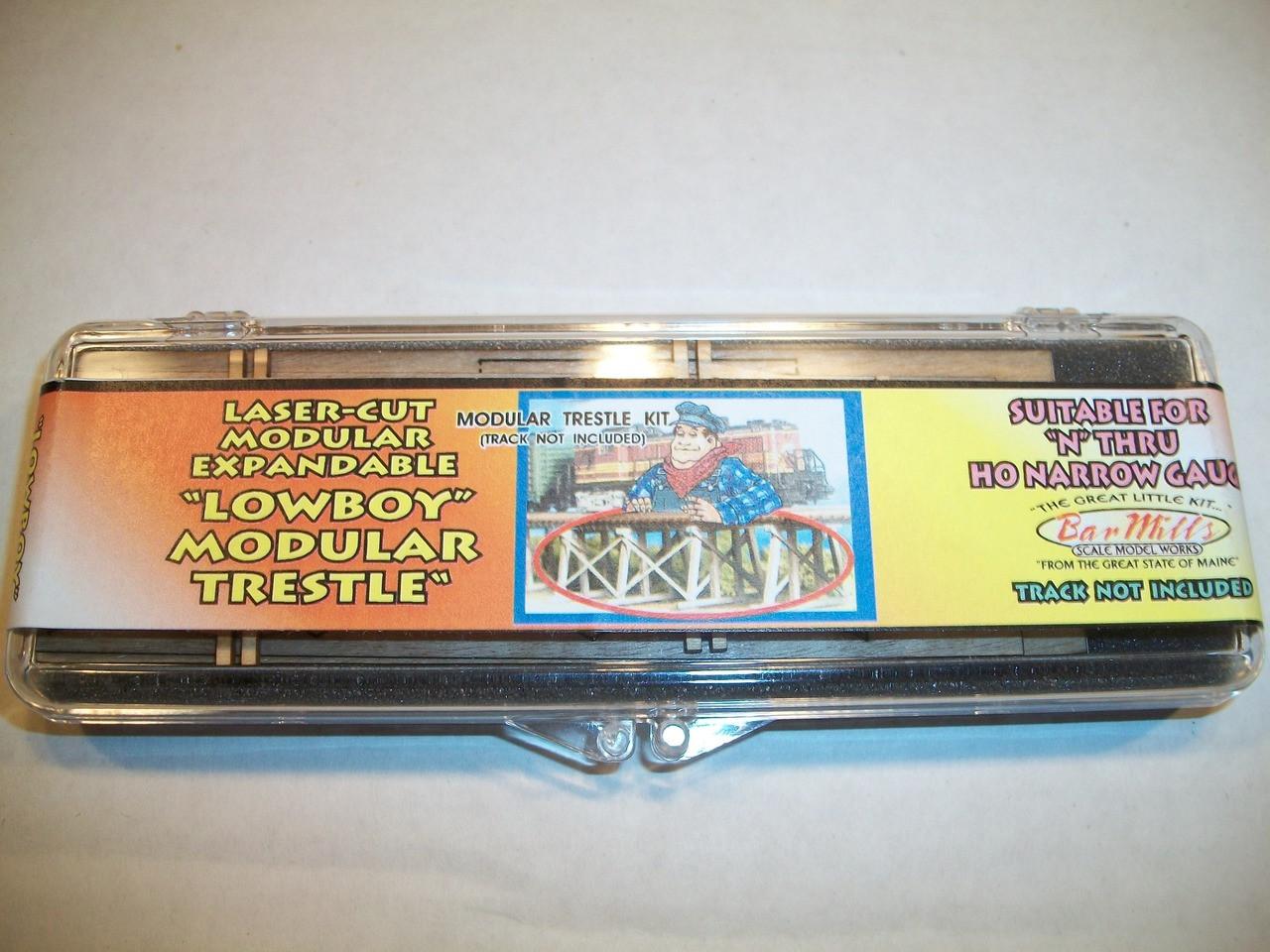 Bar Mills N Scale Laser Cut Low Boy Modular Trestle Kit #304
