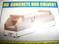 "Blair Line HO Scale Laser Cut Concrete Box Culvert Kit 1/2"" fill Single Track #2808"