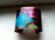 Wide Copper Patina Cuff