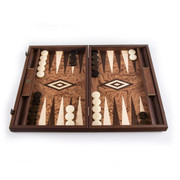 Walnut Burl Backgammon Set