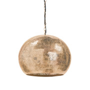 Perforated Brass Sphere Pendant Light