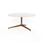 Round Marble and Raw Brass coffee table