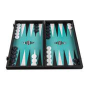 Turquoise Geometric Backgammon Set