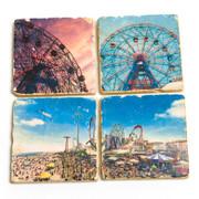 Coney Island Marble Coasters