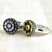 Antique Button Rings