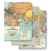 World Map- set of 3 Small Notebooks