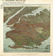 Framed Brooklyn 1908 map