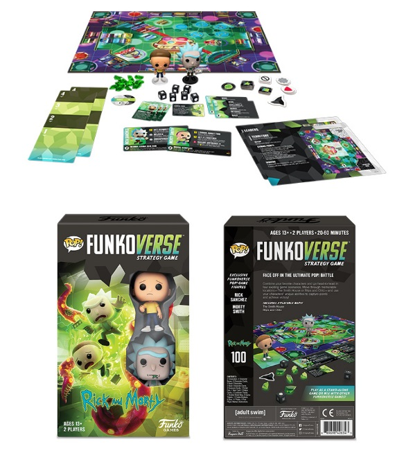 Funkoverse Rick and Morty 100 Strategy Game