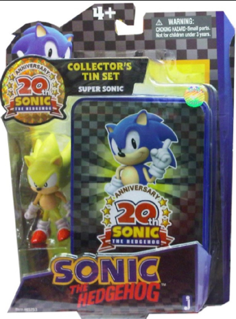Sonic The Hedgehog Collector's Tin Set With Figure Super Sonic