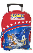 Backpack - Sonic the Hedgehog - Large 16 Inch Rolling - Feat. Tails