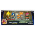"Sonic The Hedgehog Classics 4-Pack Collector'S Set 3"" Figures Action"