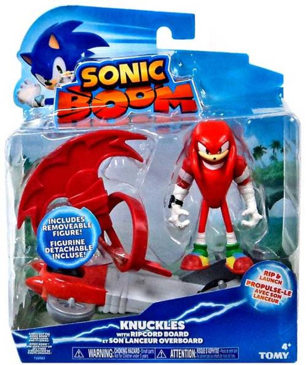 Sonic Boom 3 Inch Figure - Knuckles With Ripcord Board