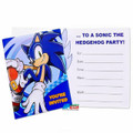 Sonic The Hedgehog Pack of 8 Invitations