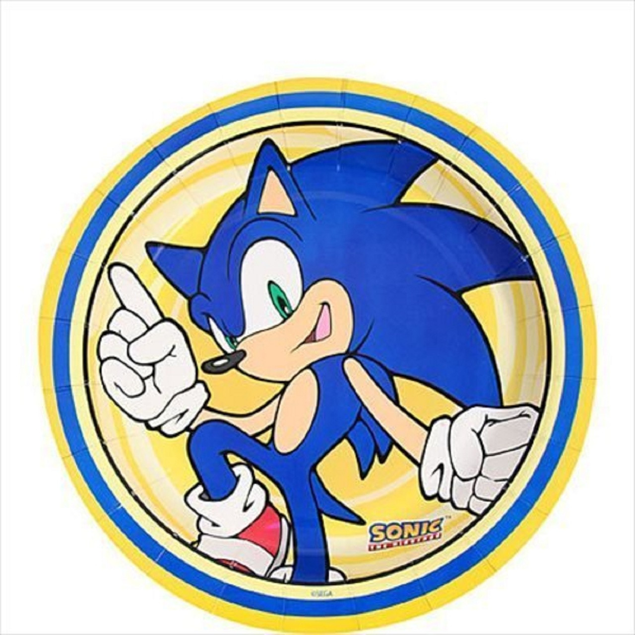 Sonic The Hedgehog 7 Inch Party Cake Plates Party Birthday Dessert
