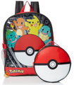Pokemon 16 Inch Large Backpack With Poke Ball Lunch Box