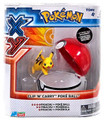 "Pokemon 2"" Plastic Toy Action Figure Clip n Carry - Pikachu and Pokeball"
