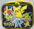 Pokemon Cloth Lunch Box Black - Pikachu, Chespin, Fennekin, Froakie