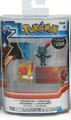 "Pokemon 2-Pk Small 2"" Toy Plastic Action Figure - Fennekin vs. Sneasel"