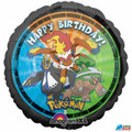 "Pokemon Round Foil Metallic 18"" Balloon - Black"