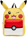 Pokemon 16 Inch Large Backpack with Puffed Pokeball Pocket - Pikachu