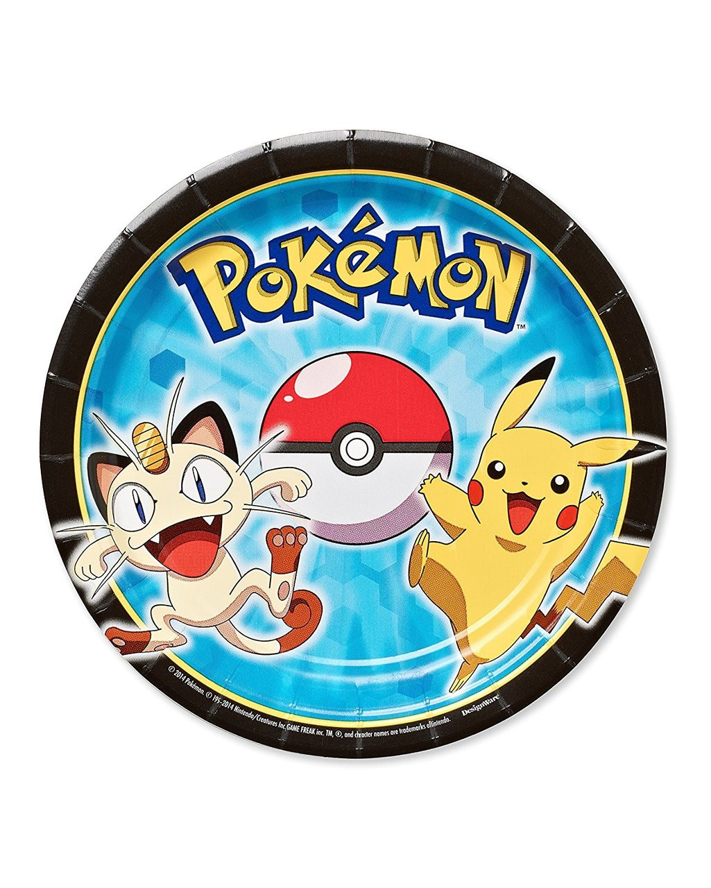 Pokemon Pikachu And Friends Small Dessert Plates - Party