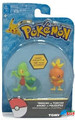 Pokemon 2 Pack Plastic Figures - Treecko vs. Torchic