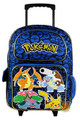 Pokemon Large Rolling Backpack - Blue/Pokeballs