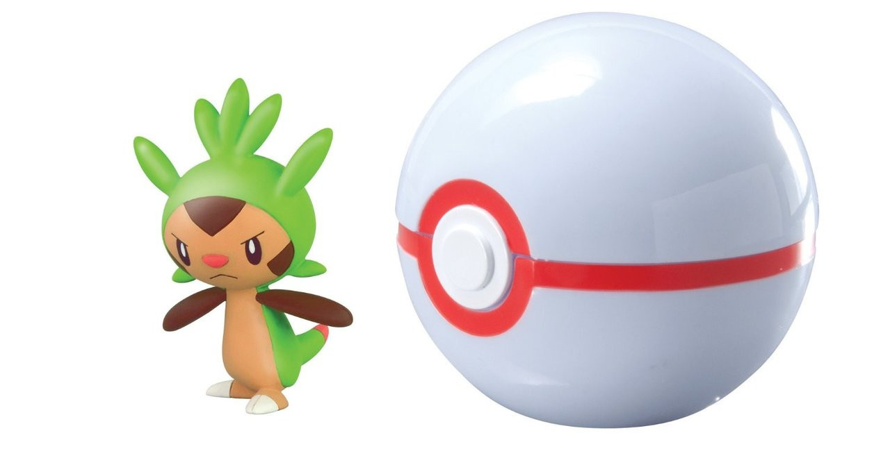 Pokemon 2 inch Toy Action Figure - Chespin Premier Ball