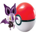 Pokemon Clip n Carry Pokeball with Figure - Noibat / Poke Ball