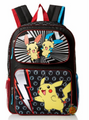 Pokemon 16 Inch Large Backpack Black - Pikachu / Lightning