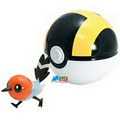 "Pokemon 2"" Plastic Toy Action Figure Clip n Carry Fletchling Ultra Ball"