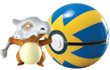 Pokemon Clip n Carry Pokeball with Figure - Cubone / Quick Ball