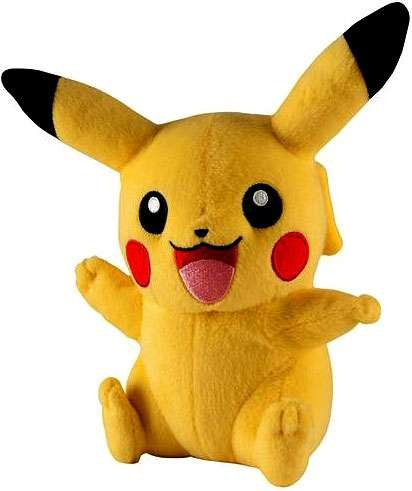 Pokemon Pikachu 7 Inch Plush Open Mouth, Waving, Other Arm Up