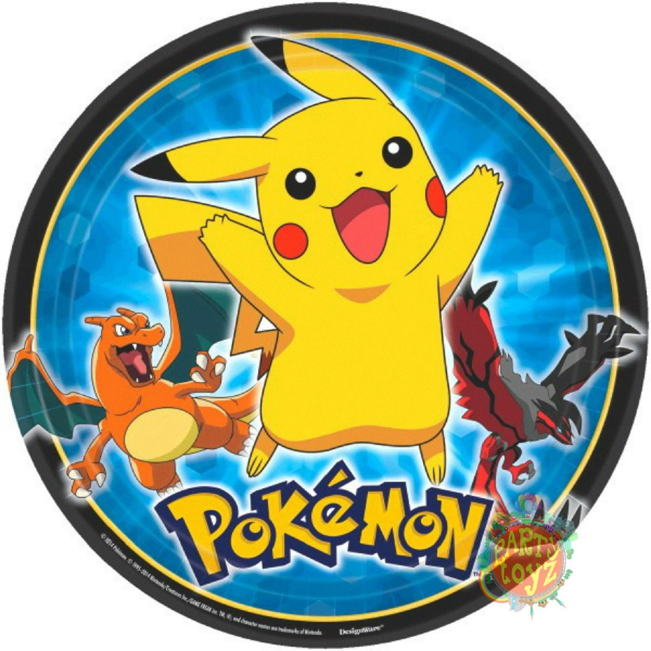 Pokemon Large Lunch Plates - Pikachu and Friends