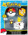 Pokemon Figure Set Pikachu And Cubone with Throw and Pop Poke Ball - Repeat Ball